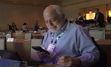Andrew busy at work reporting today from the IQNavigator event in Phoenix.