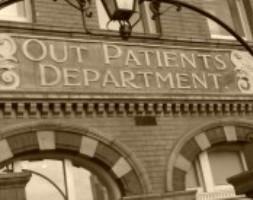 hospital sign sepia 200