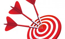 bull's eye darts target