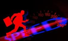 speeding concept