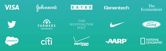 Visually customer logos